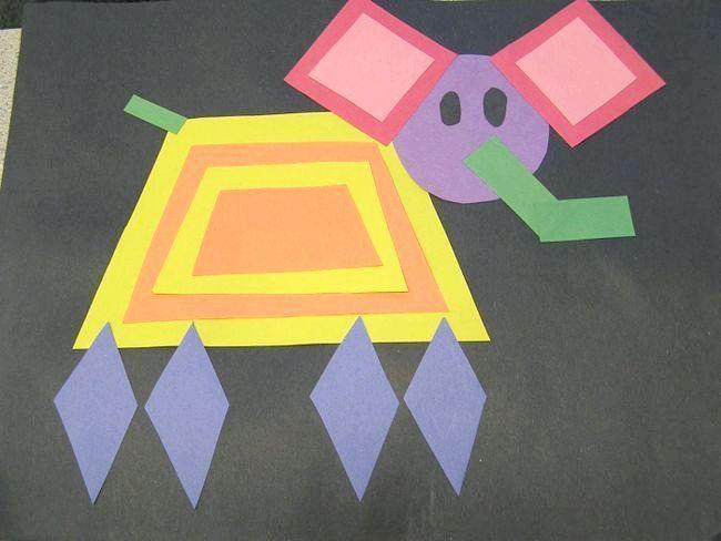 тварини з геометричних фігур аплікація