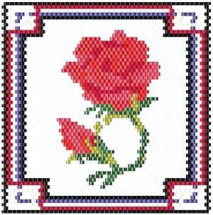 бісероплетіння квітів схеми