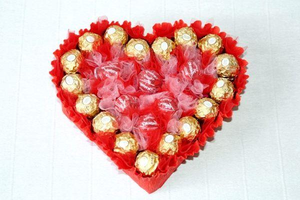 букет із цукерок серце майстер клас