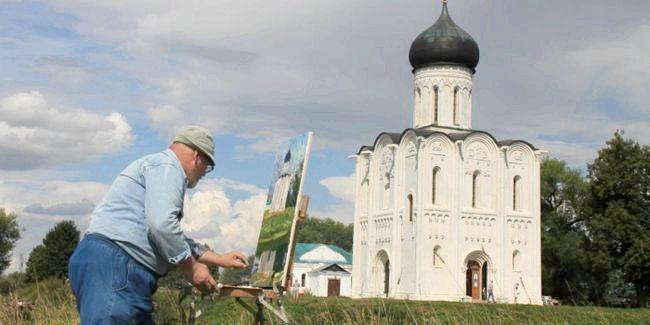 картина церква Покрови на Нерлі