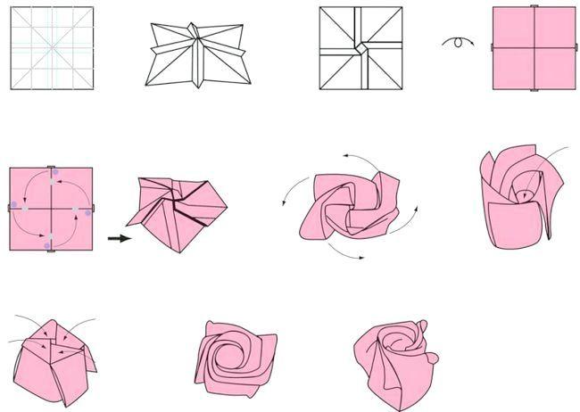 як зробити орігамі квітка
