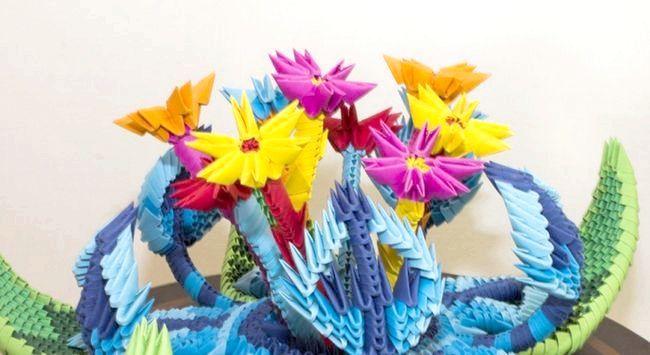 квітка орігамі схема