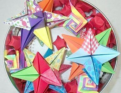 орігамі ялинкові іграшки