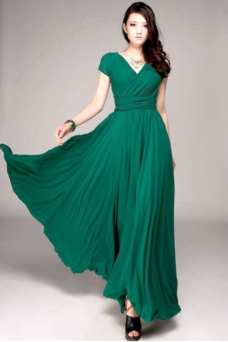 довгі сукні із завищеною талією