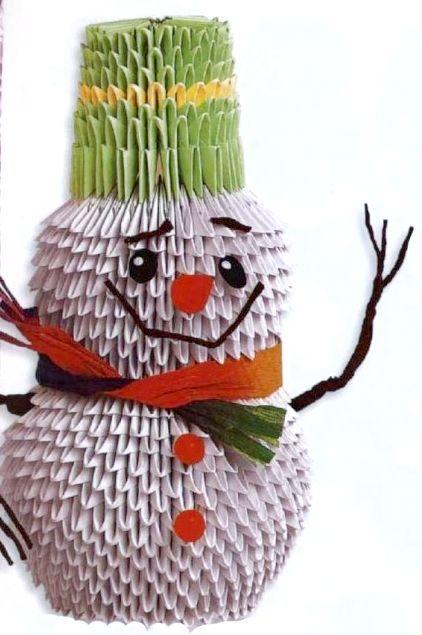 орігамі схеми складання сніговика