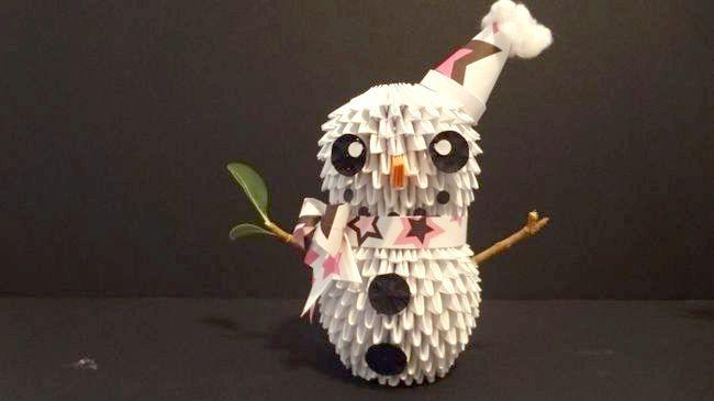 орігамі сніговик