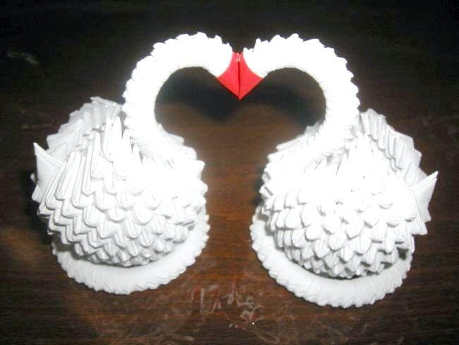 як з паперу зробити лебедя