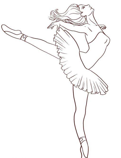як намалювати балерину поетапно