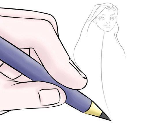 як намалювати барбі принцесу