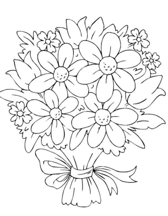 як намалювати букет квітів поетапно