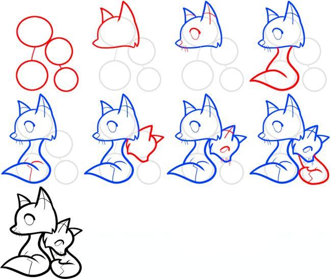 Як намалювати лисицю для дитини