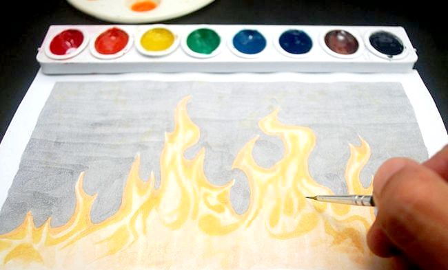як намалювати полум'я вогню