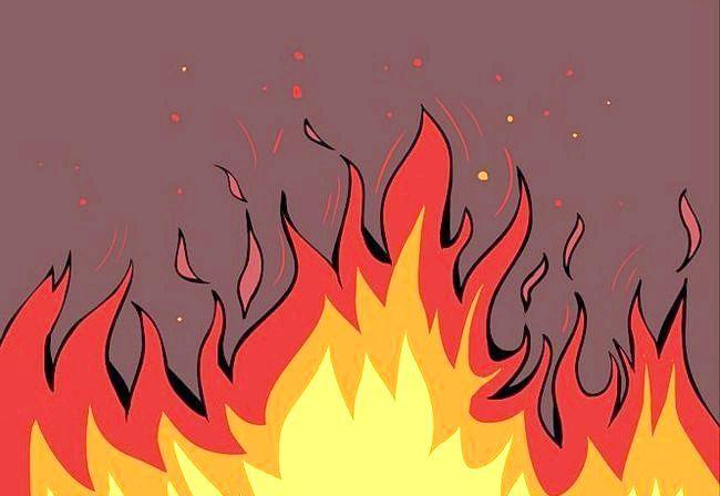як намалювати вогонь поетапно олівцем