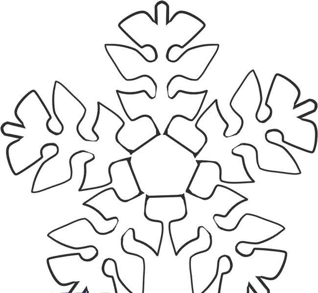 як намалювати сніжинку