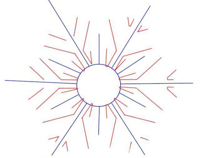як намалювати сніжинку олівцем поетапно