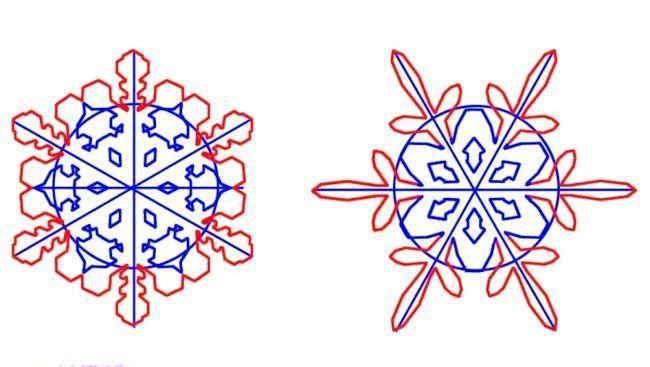 як красиво намалювати сніжинку