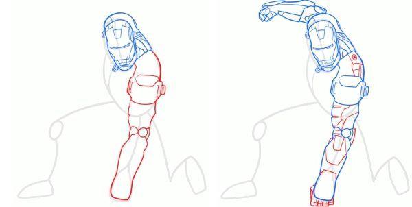 намалювати залізної людини