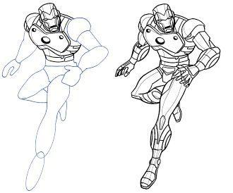 як намалювати залізної людини