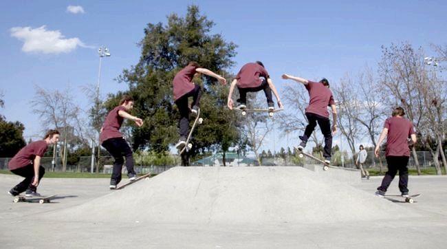 де катаються на скейті