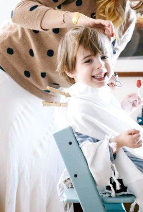 як підстригти дитини