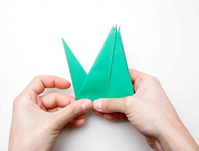 орігамі пташка схема