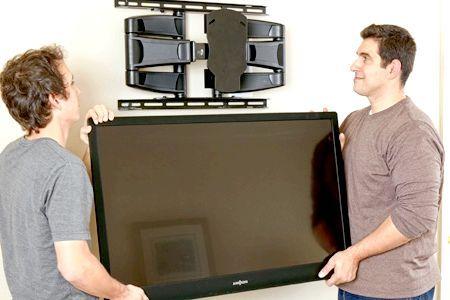 Телевізор на стіну висота