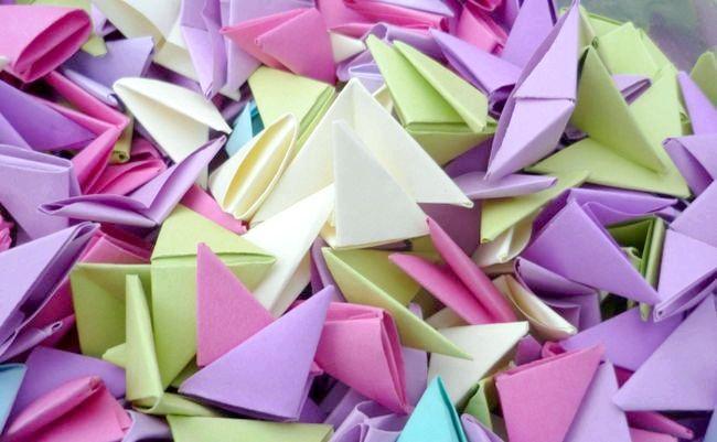 орігамі з трикутних модулів