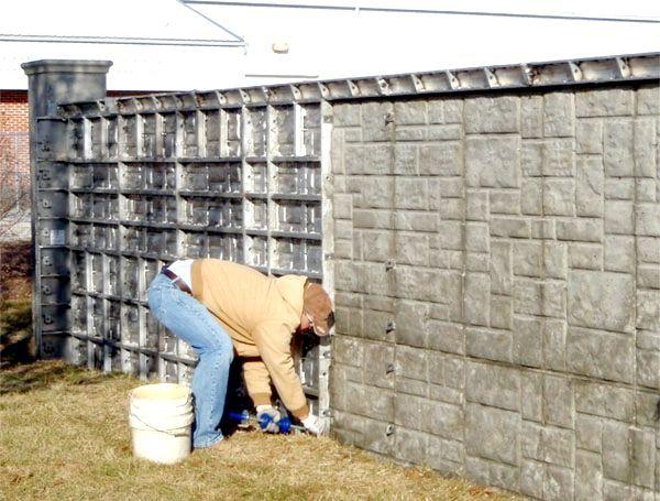 як зробити опалубку для фундаменту під паркан