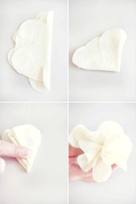 як зробити своїми руками квітка з тканини