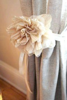 квіти з тканини для штор