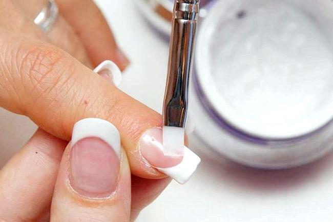 як зняти нарощені акрилом нігті