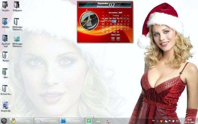 Новорічна тема для Windows 7.