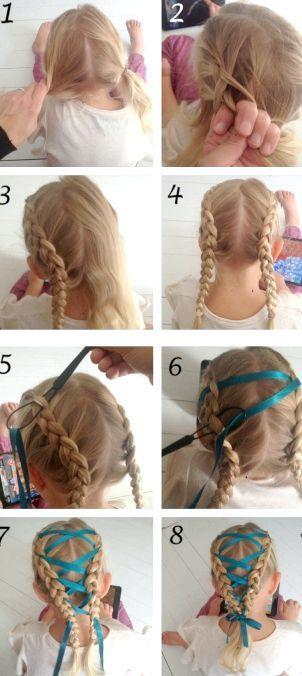 як плести косу з стрічкою