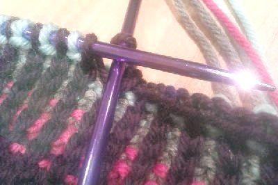як закінчити в'язання шарфа