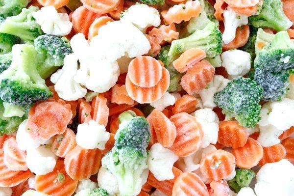 Шокова заморозка овочів