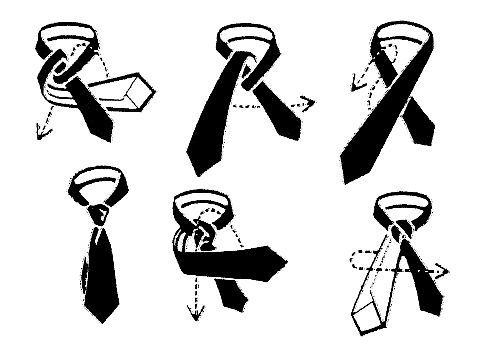 як зав'язувати жіночий галстук