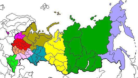 економічні райони Росії