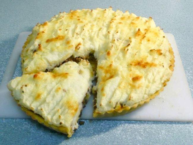 рецепт картопляної запіканки з м'ясом