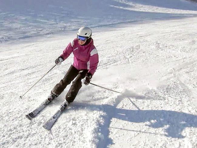 техніка катання на лижах