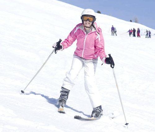 техніка катання на гірських лижах