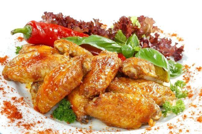 курячі крильця в медовому соусі в духовці