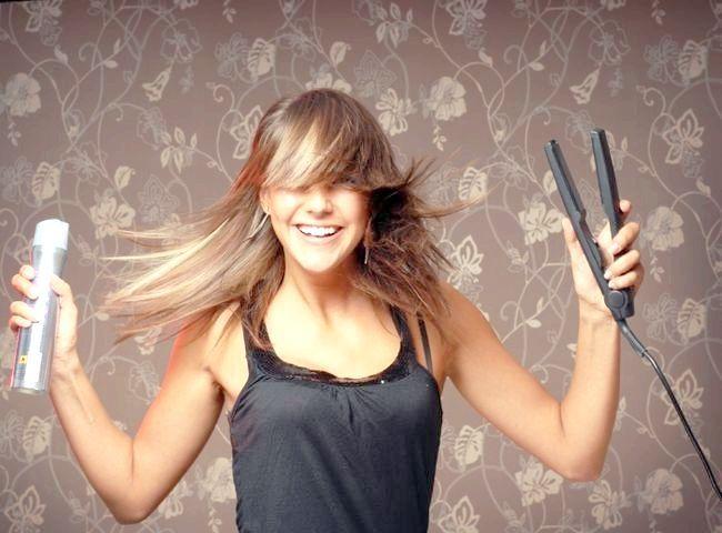 лак для волосся з блискітками