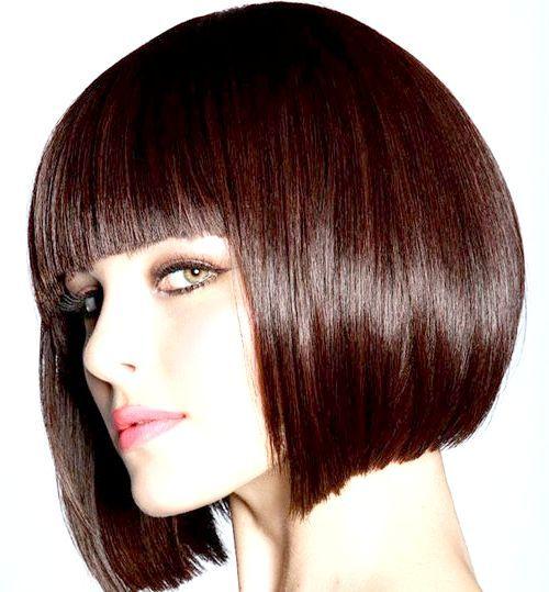 стрижки коротке волосся з чубчиком