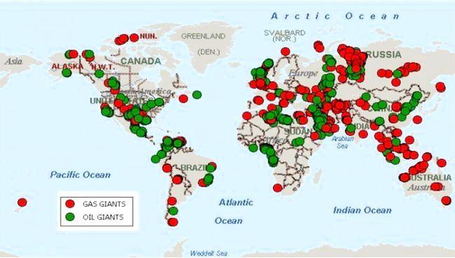 карта родовищ нафти