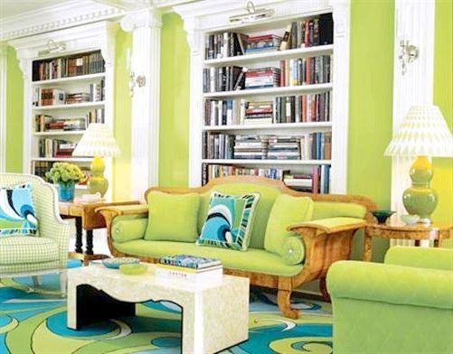 Зелений колір в інтер'єрі