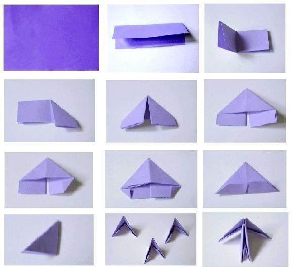 ваза з модулів орігамі
