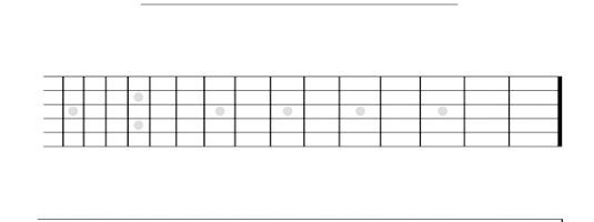 нотний стан на гітарі