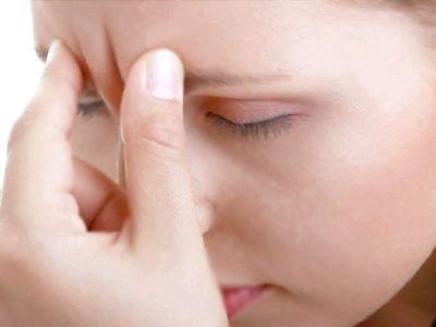 болі в лобовій частині голови