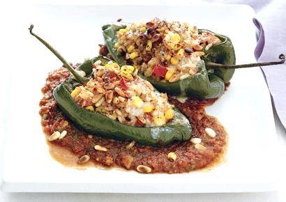 фарширований перець вегетаріанський