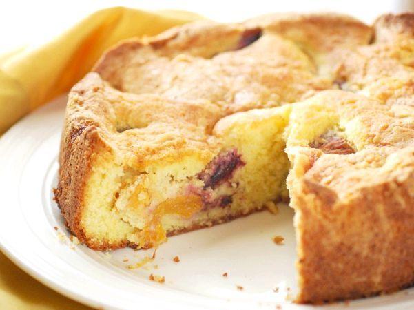 пиріг з персиками фото